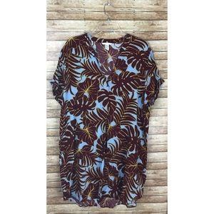 H&M Palm Leaf Print Dress